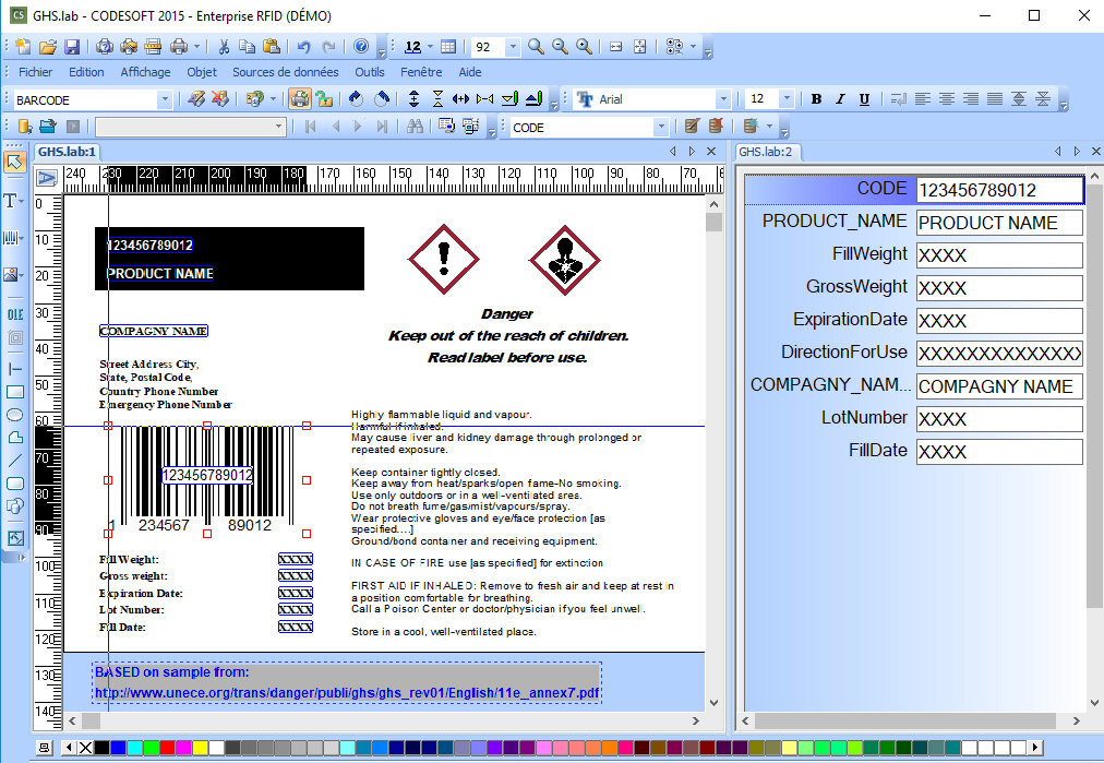 Logiciel label design CODESOFT